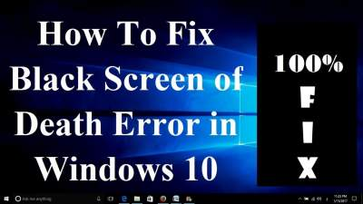 QUICK FIX TO WINDOWS 10 BLACK SCREEN OF DEATH [SOLVED!]