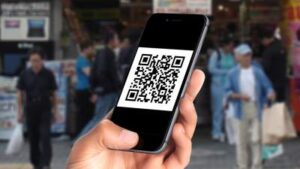 scanning qr code on iphone