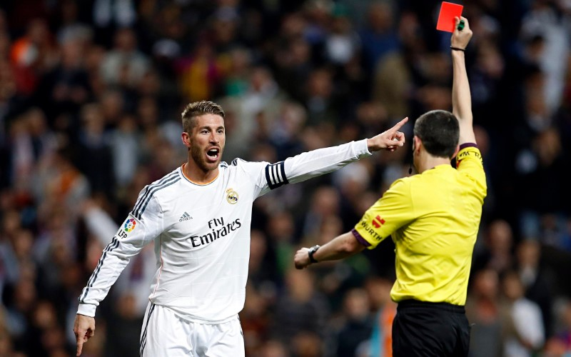 Football Players With Most Red Cards In Their Careers