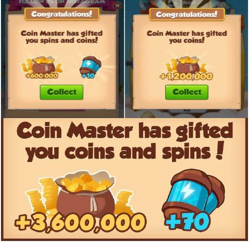 3,600,000 coin master free spin